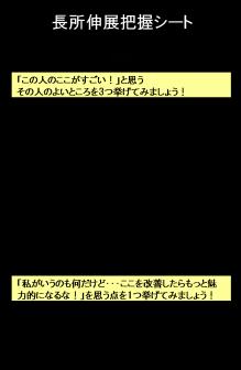 戸澤良親の医療コンサル珍道中日記-長所把握シート